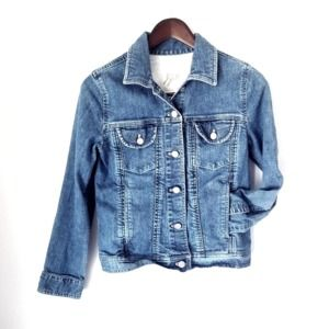 J. Jill  Stretch Denim Jean Jacket Classic Sz XS